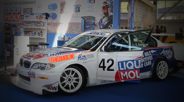 Liqui Moly logo on BMW