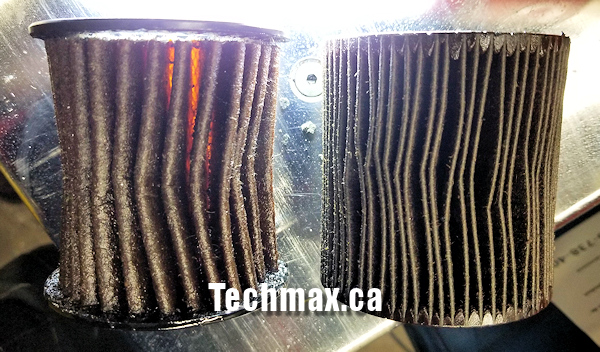 Collapsed BMW oil filter