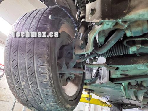 worn all season tire