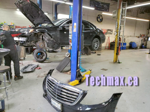 Mercedes headlight repair