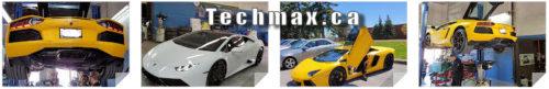 Lamborghini being repaired at Techmax