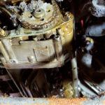 Engine work on BMW