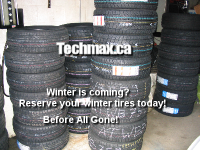 winter tires fromt Techmax.ca